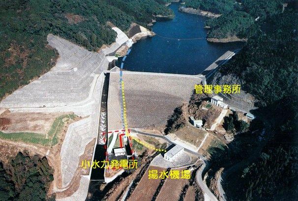 ダム全景(導水管路付)-1